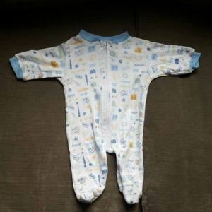 Coney Isle White 6-9months sports Pajama